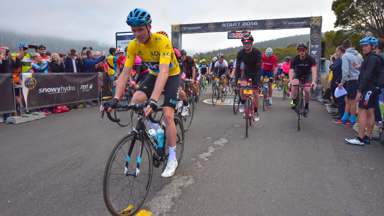 Chris Froome is back at the Snowy Mountains to ride in L'Etape.