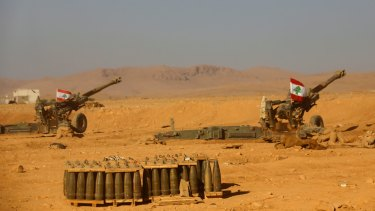 Islamic State militants started leaving the Syria-Lebanese border area on Monday as part of a negotiated deal to end the extremist group's presence there.