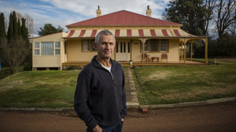 John MacKinnon has lived in Deasland, one of Canberra's oldest houses, for more than 40 years.