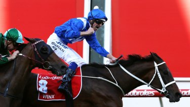 The moment: Winx wins the Cox Plate.