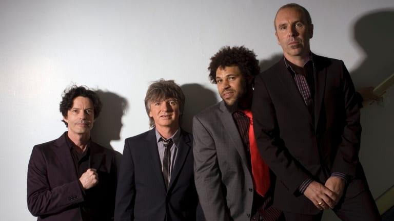 Crowded House from left, Mark Hart, Neil Finn, Matt Sherrod and Nick Seymour.