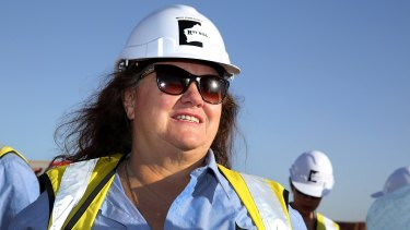 Gina Rinehart's Roy Hill mine could be exporting at a rate of 55 million tonnes a year within months.