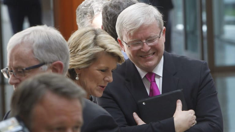 Happier days. Kevin Rudd with Foreign Minister Julie Bishop.