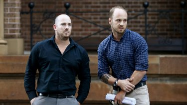 Todd Fisher and Corey Cameron escaped from an explosion and fire that rocked their Rozelle home. Their flatmate Chris Noble died.