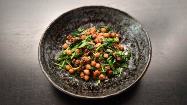 Spiced chickpea and spinach.