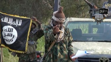 Screengrab from a video released by Boko Haram showing purported leader Abubakar Shekau.