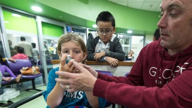 Many, such as Jaxon Dowal, had never had asthma before Monday night when they were affected by thunderstorm asthma.