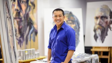 Archibald Prize finalist again ... Anh Do in Anh's Brush with Fame.