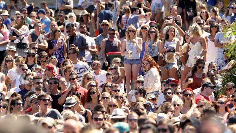Crowds at the Sydney leg of Laneway last year.