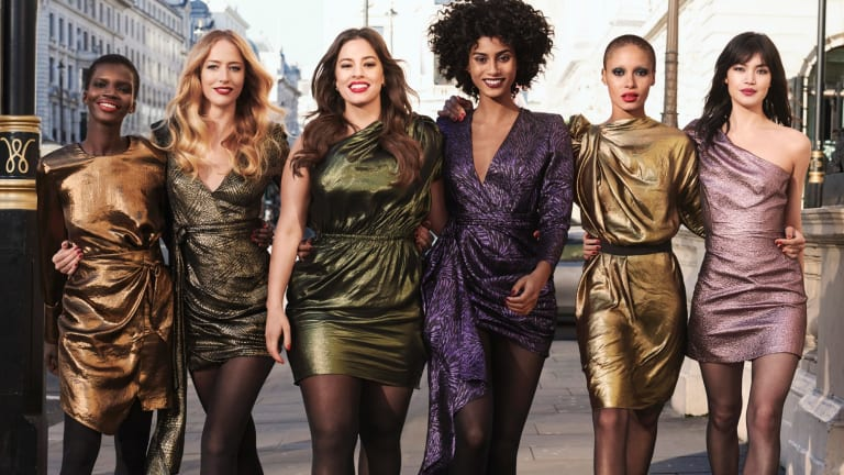 The new Revlon ambassadors, are (from left) Achok Majak, Raquel Zimmermann, Ashley Graham, Imaan Hammam, Adwoa Aboah and model Rina Fukushi.