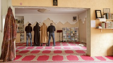 Prayer at a mosque in Riga this month.