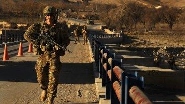 Australian soldiers patrol and in Oruzgan Province, Afghanistan, in 2013.