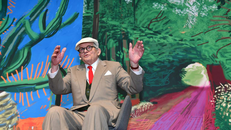 screen savour technology takes david hockney s art to a