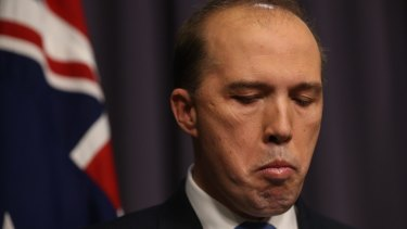 Immigration Minister Peter Dutton has been drawn into the saga after sending a text message to the wrong recipient.