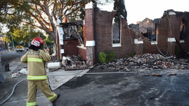 Three firefighters were injured in a fire at the Macedonian Orthodox Church of the Resurrection in Rockdale.