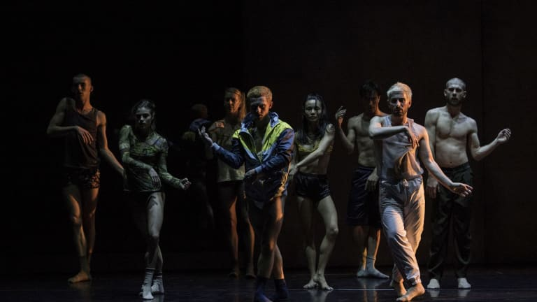 <i>Ocho</I> has an industrial feel and pushes its audience into a new dance experience.