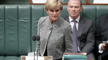 Julie Bishop told Parliament that a bureaucrat had erred over the siege gunman's letter.
