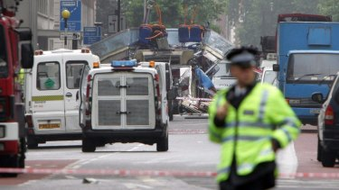 After the explosion near Russell Square in London.