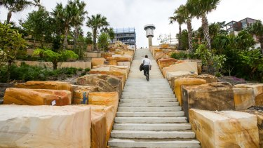 Stairways and landscaping at Barangaroo Point
