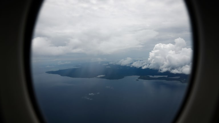 An aerial view of Manus Island in Papua New Guinea.