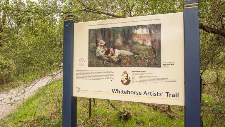 Follow in the footsteps of Frederick McCubbin and other artists who painted in the area during the late 1800s and early 1900s, on the Whitehorse Artists' trail.