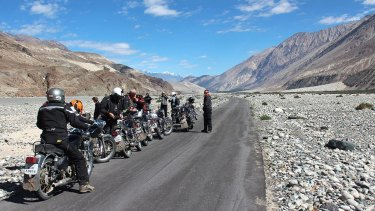 Crossing the Himalayas on Royal Enfields.