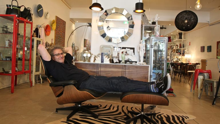 Drexler in his Oxford Street, Paddington store with a replica, Iconic Lounge Chair and Ottoman.