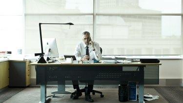 ABC managing director Mark Scott inside his office in Ultimo, Sydney.