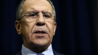 """Foreign Minister Sergei Lavrov: """"We have serious doubts this was an unintended incident."""""""