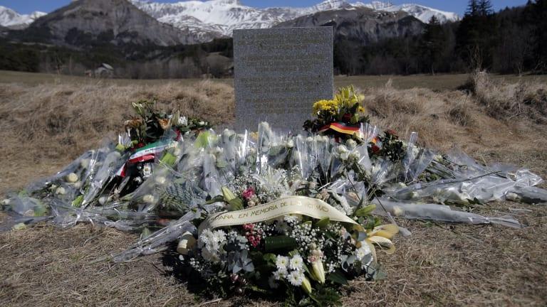 A makeshift memorial near the crash site.