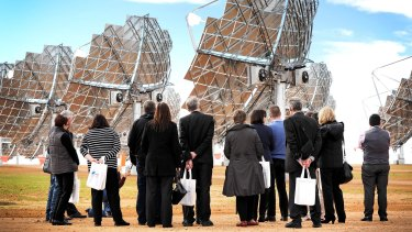 Opening of the Mildura Solar Power Demonstration Facility in Carwarp, Victoria.