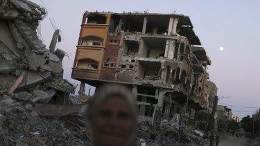 Destruction in Beit Hanoun town in  northern Gaza in September last year.
