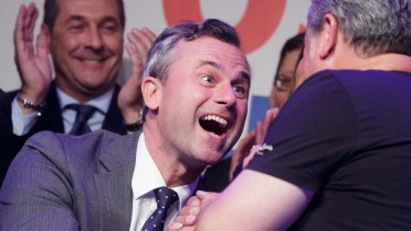 """Far-right candidate Norbert Hofer conceded defeat, writing: """"Of course I am sad today."""""""