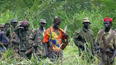 Lord's Resistance Army rebels in Congo in 2006.