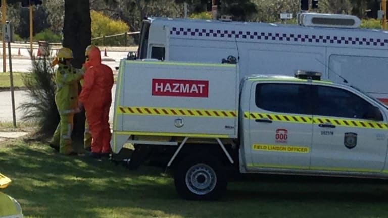 Emergency services are attending a chemical spill on the corner of Alexander Dr and Beach Rd in Mirrabooka.