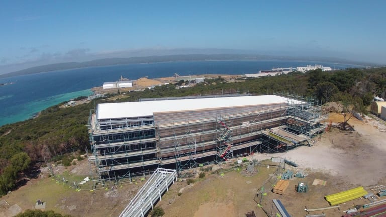 Now complete: Recent aerial shots of the National Anzac Centre, Albany.