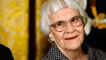 Harper Lee receiving the US Presidential Medal of Freedom in 2007.