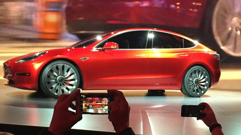 Optimism about the Model 3's prospects have contributed to a 53 per cent jump in its stock price this year.