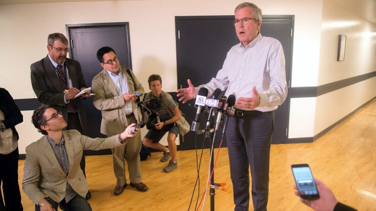 Republican presidential contender Jeb Bush in Nevada on Wednesday.