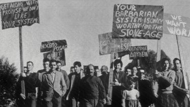 A demonstration at Bonegilla over the lack of work in July 1961 was followed by rioting.