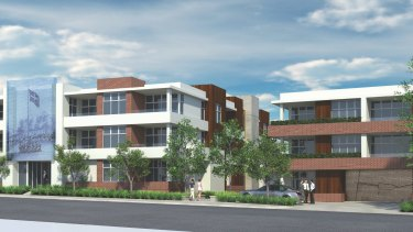 An artist's impression of the controversial Marvella Heights apartment project in Ballarat.