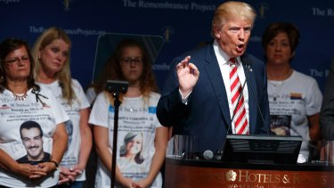 Donald Trump during a event with The Remembrance Project, on Saturday.