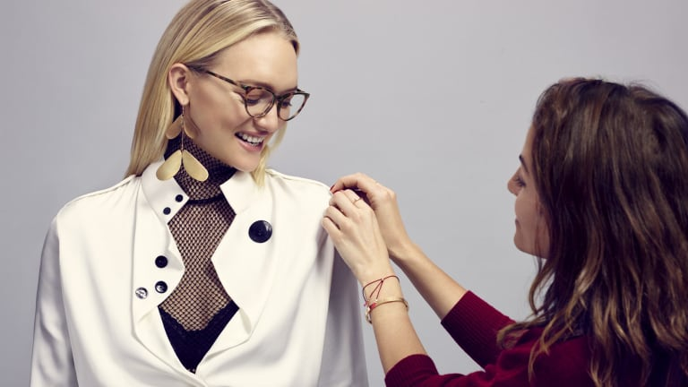 """Ellery said fellow Perth star Gemma Ward was the """"perfect fit"""" to model her new eyewear collection for Specsavers."""
