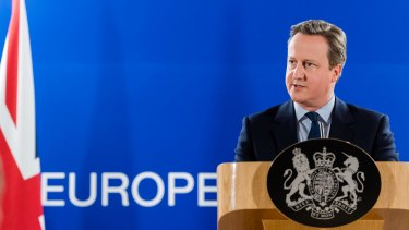 British Prime Minister at an EU summit in Brussels on Tuesday.