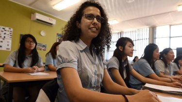 Year 12 student Ruqayah Abed, 18, hopes to study a combined arts-law degree.
