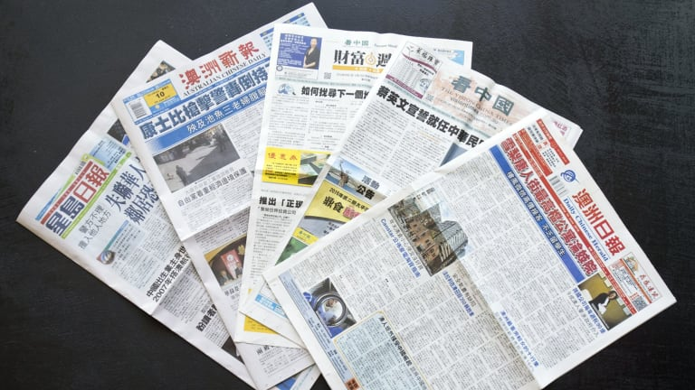 Chinese Australian Newspapers: Fortune Weekly, Daily Chinese Herald, Australian Chinese Daily, Sing Tao Daily, and Vision China Times.