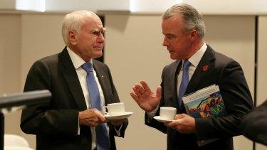 Former prime minister John Howard and Australian War Memorial director Brendan Nelson on Tuesday