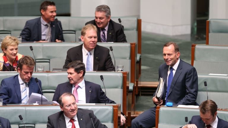 Former prime minister Tony Abbott may be on the backbench but he's not staying silent.