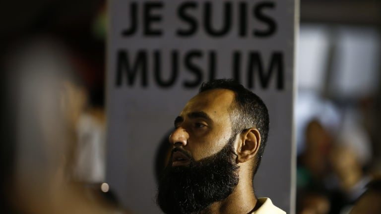 'Je Suis Muslim': A Muslim man defends his religion in Lakemba.