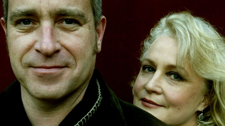Michael Gurr with actor Kate Fitzpatrick in 2004.